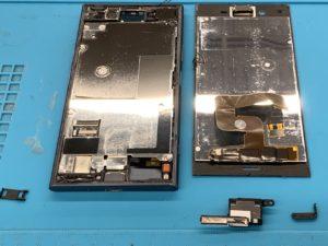 【Xperia XZ1】落としたら画面が外れてうつらなくなった…即日修理致します【TSUTAYA北千住店】