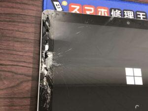 Surface Go 落として画面が割れてしまった【北千住店】