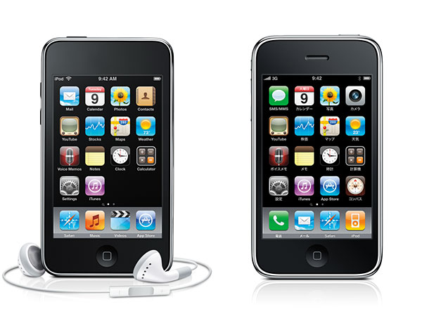 iPod touch 3(第3世代)とiPhone 3GS