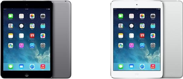 iPad mini 2 カラーバリエーション