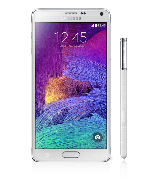 GALAXY Note4 フロストホワイト